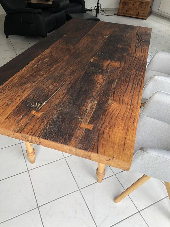 Altholz Tischplatte aus recyceltem Altholz geölt