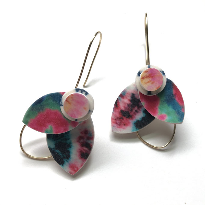 Custom Tie Dye Bloom Earrings 2020