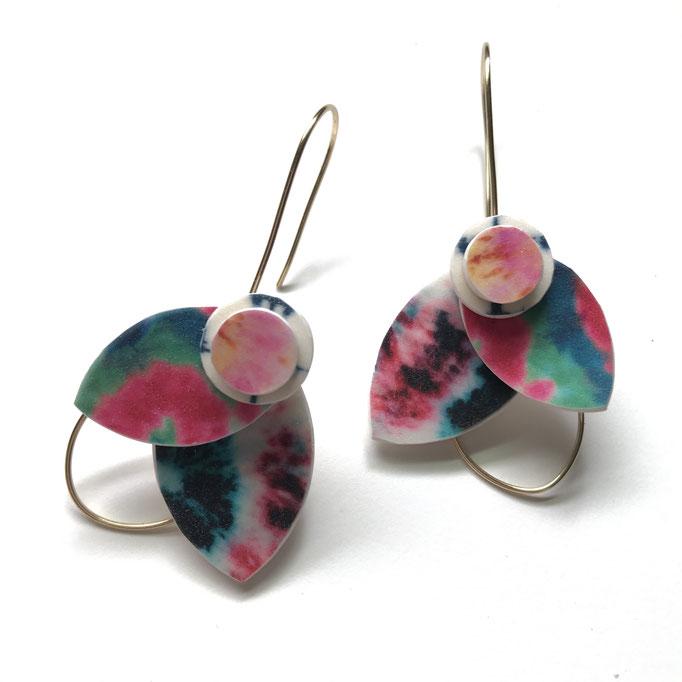 Custom Tie Dye Bloom Earrings 2020