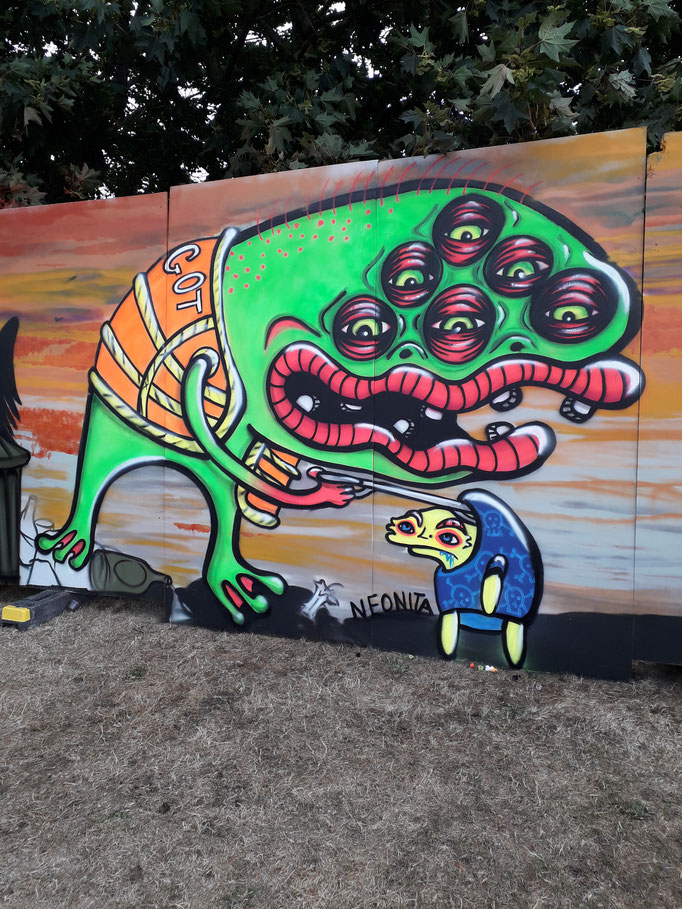 Toxic Monster from Toxic Wasteland Production, UpFest, Bristol, 2018