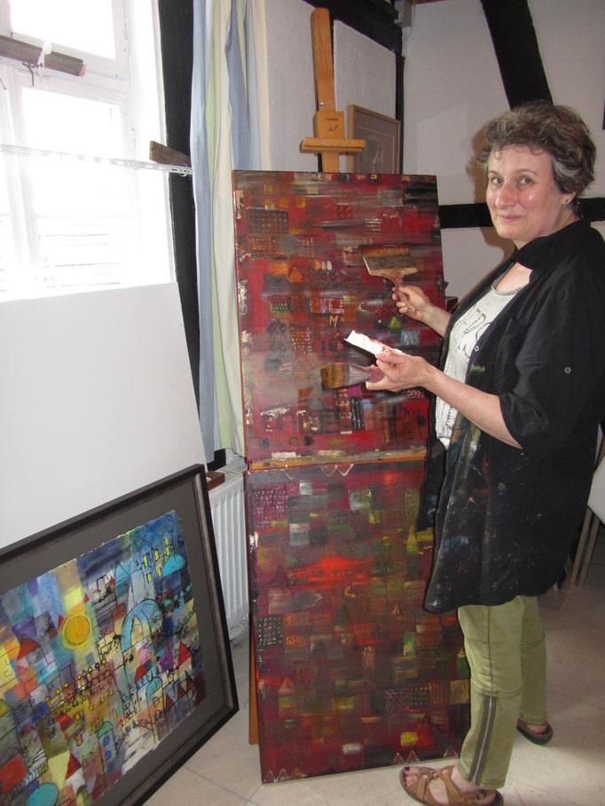 Im Atelier von Monika Mästele-Kerrouche