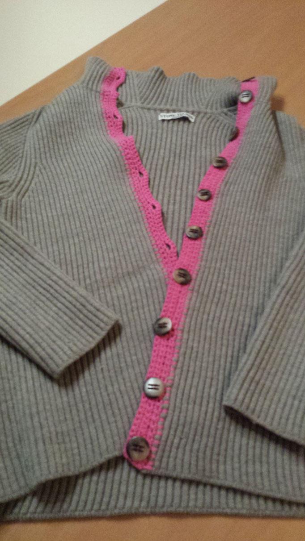 Der Pilot-Pullover mit unscheinbarem Reißverschluss am Hals wurde zur Jacke, designed and made by Beate Gernhardt