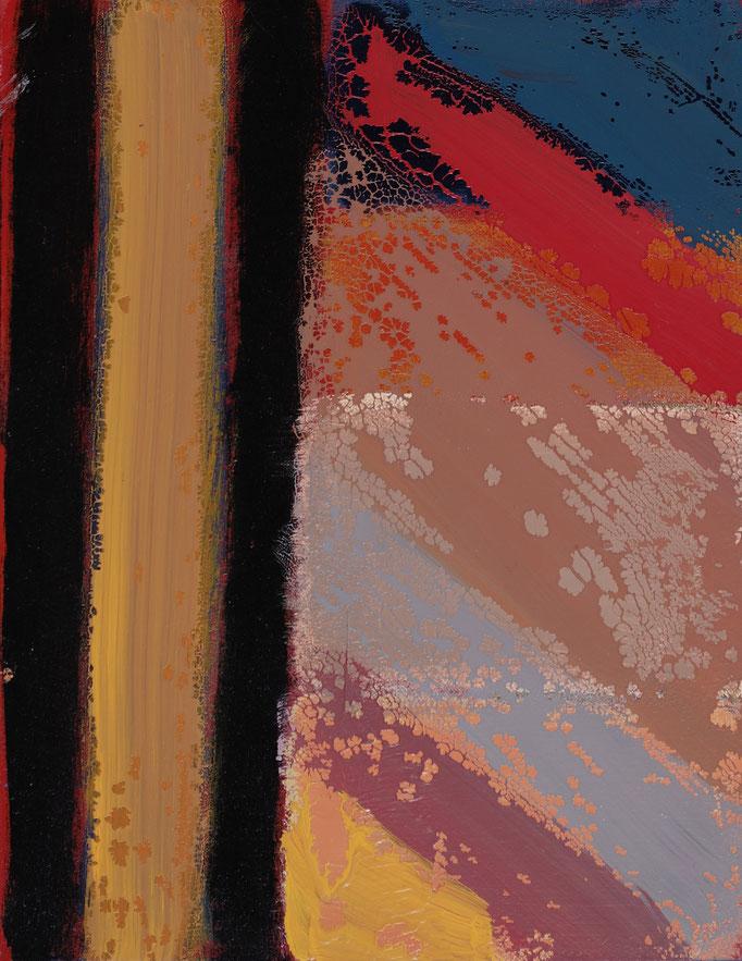 Finestra sul tempo (2019 - Smalto su masonite - 28x25)