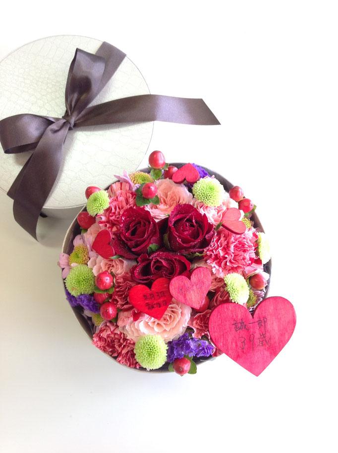 プレゼントの花 ボックスフラワー