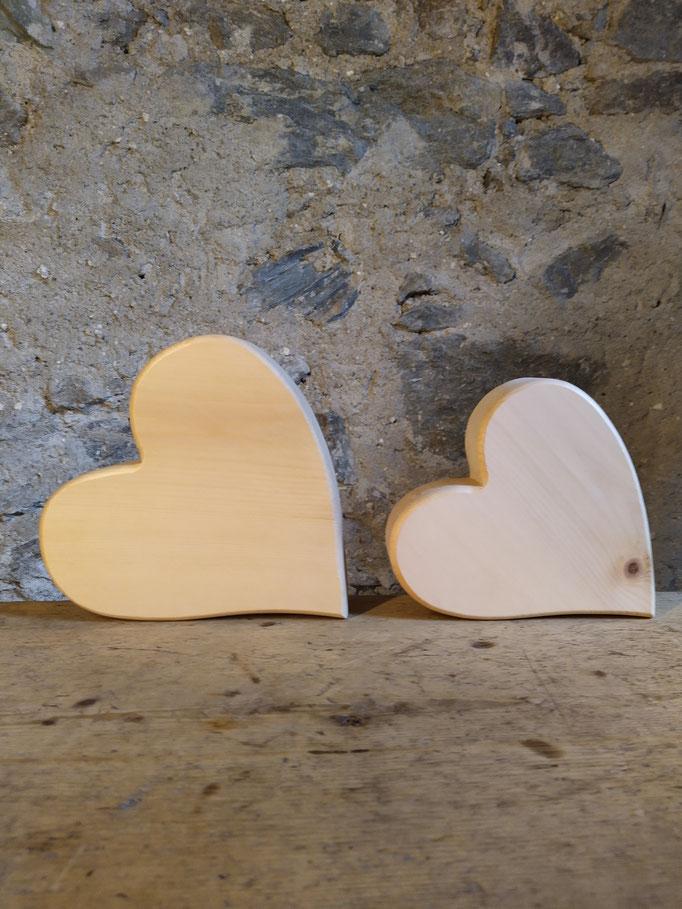Herzen aus Zirbenholz, Individualisierung möglich!