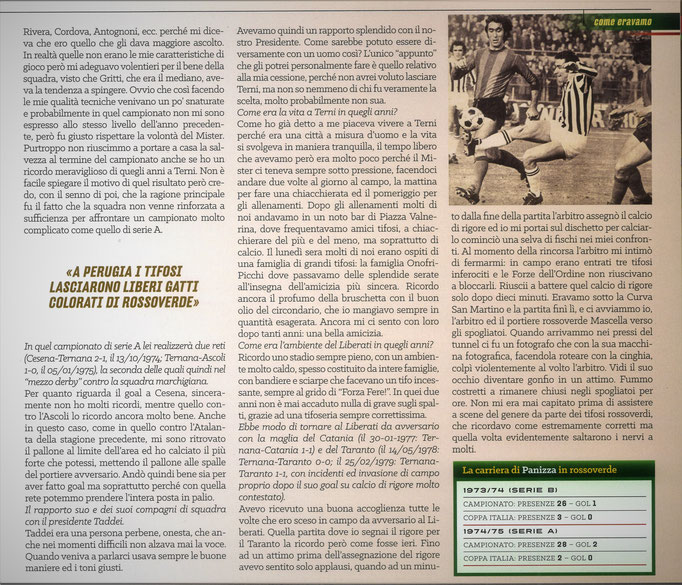 2021 Settembre. DAJE MO'! Il mio articolo dedicato a Franco Panizza (Parte 2). La versione integrale dell'intervista si può leggere al seguente link: