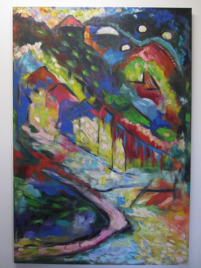 Der Dorfteich, 160 x 110 cm, Nr. 820