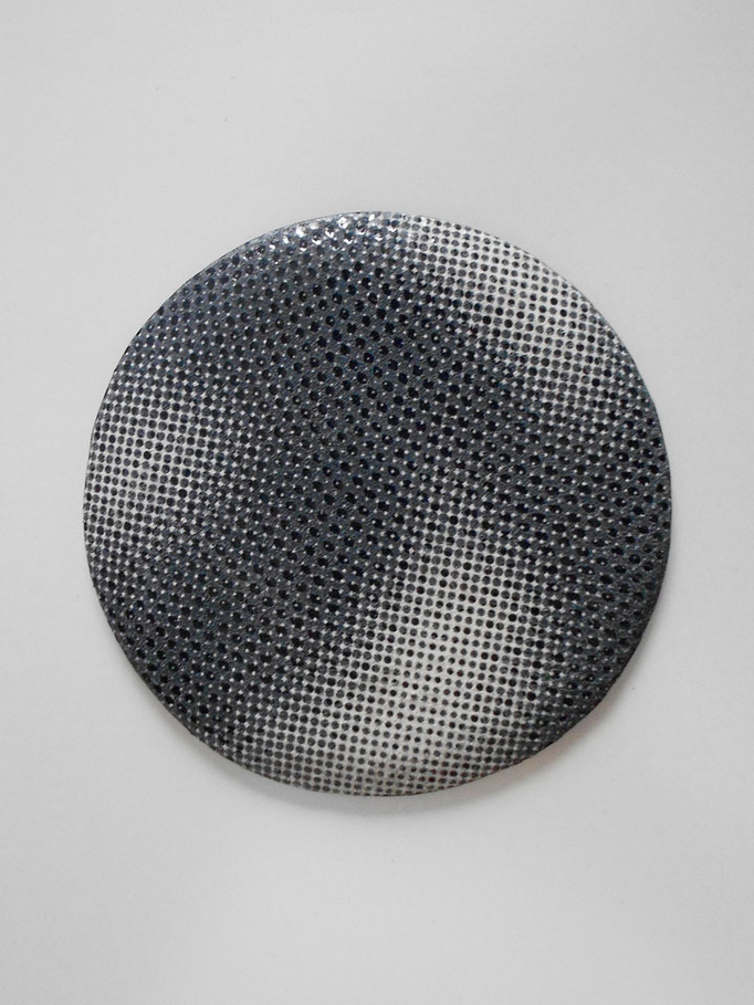 """hésitation"" broche cuir 80 mm 2015"