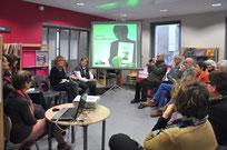 Janvier 2016 - Rencontre littéraire en partenariat avec la Médiathèque l'Ile aux livres - Accueil de Danièle Bizet-Billaudeau.