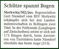Artikel - Lm Feld/Wald 2007 in Bellingen