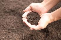 バーク堆肥(腐葉土)の写真