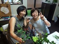家にお花を飾る