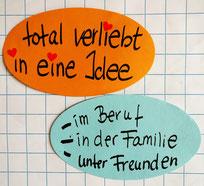 Beispiele Six Thinking Hats | total verliebt in eine Idee | im Beruf | in der Familie | unter Freunden