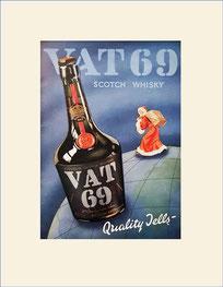VAT 69 whisky ad
