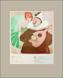 Pan, art deco, pierrot, Kay Edmunds