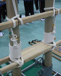 加賀鳶はしごの綿ロープ