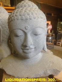 Buddha-Büste,  Höhe 55cm, Breite 50cm. VERKAUFT