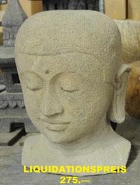 Buddha-Büste,  Höhe 45cm, Breite 30cm.
