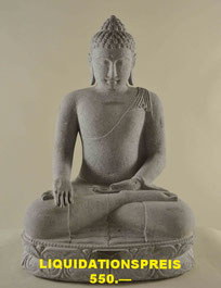 Buddha, Höhe 62cm, Breite 40cm, Tiefe 30cm. 1'250.- VERKAUFT