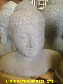 Buddha-Büste,  Höhe 49cm, Breite 50cm. VERKAUFT