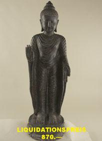 Buddha, stehend, Höhe 110cm, Breite 45cm, Tiefe 30cm. 1'750.- VERKAUFT