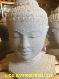 Buddha-Büste,  Höhe 60cm, Breite 40cm.  VERKAUFT
