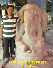 Ganesh, Höhe 150cm, Breite 105cm, Tiefe 70cm. 5'850.—