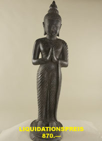 Buddha, stehend, Höhe 110cm, Breite 40cm, Tiefe 30cm. 1'750.- VERKAUFT