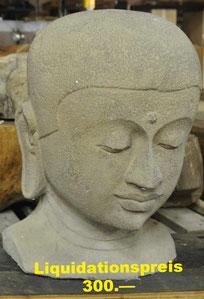 Buddha-Büste,  Höhe 50cm, Breite 35cm.