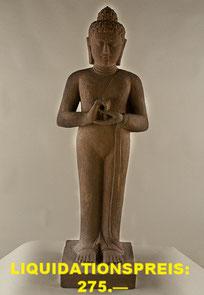 Buddha, stehend, Höhe 103cm, Breite 28cm, Tiefe 28cm. 590.— VERKAUFT