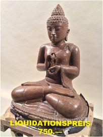 Buddha, polierter Stein. Höhe ca. 60cm. 1'400.—