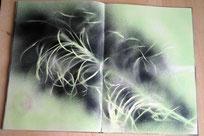 """""""Plant me a garden"""", Spray, Tusche-Zeichnung, 100 Seiten, 30 x 40 cm, 2016"""