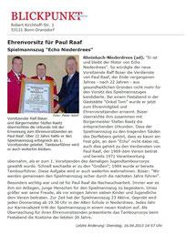 Echo Ehrenvorsitzender Paul Raaf