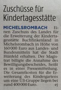 Presseartikel aus der Hünfelder Zeitung vom 21.08.2017