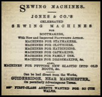 JONES & CO. - 1870 Advertisement