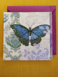 Grusskarten in Pergament-Optik