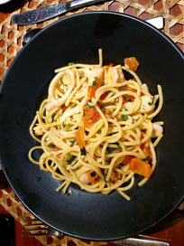Sanak Retreat Abendessen Spaghetti