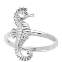 925 sterling zilver seahorse ring