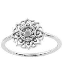 925 sterling zilver mandala ring
