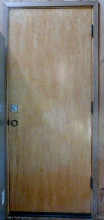 Door after deadbolt installation