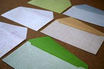 自分好みの和紙を選んで洋形4号封筒をカスタマイズできます