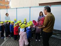 年少さんは佐久間内科小児科の先生へ訪問