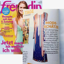 Oh! Jackie featured in Freundin Magazine