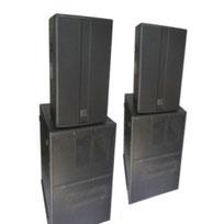 Beschallungsanlage - Lautsprecher und Endstufe