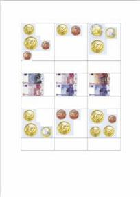 Suma de monedas y billetes