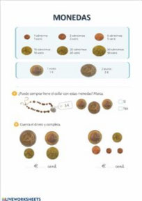 Cálculo del valor de las monedas