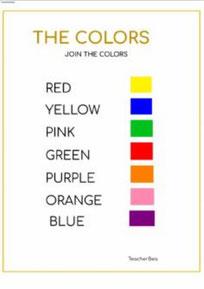 Une los colores en inglés