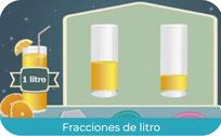 Fracciones de litro