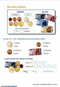 Manejo de monedas y billetes