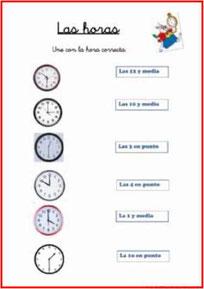 Indicar la hora